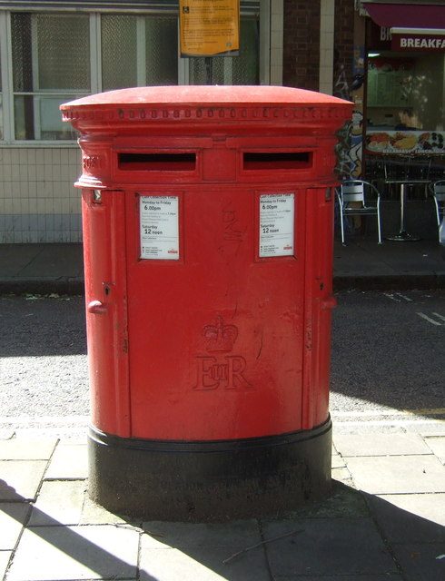 Double aperture Elizabeth II postbox on Essex Road, London N1