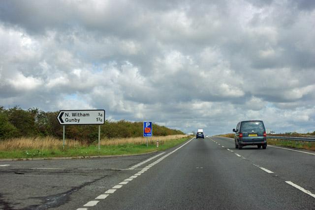A1 northbound at Bull Lane
