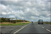 SK9321 : A1 northbound at Bull Lane by Robin Webster
