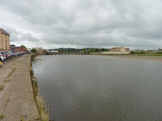 The River Taw at Barnstaple with Long Bridge