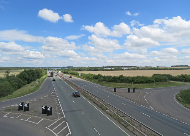 The Wilbrahams turning on the A11