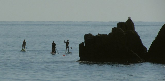 Paddle boarders, Anstey's Cove, Torquay