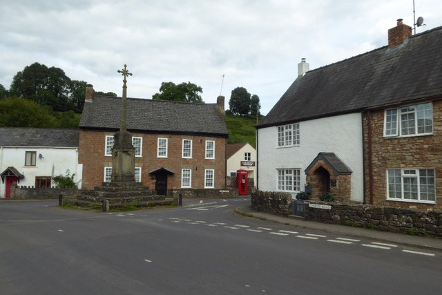 Cross and village centre