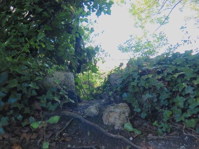 Original stones of Brading Haven sea wall