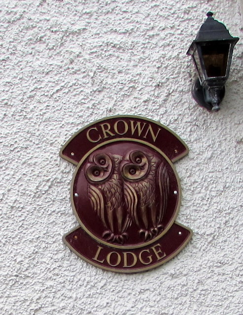 Crown Lodge name sign, Tintern