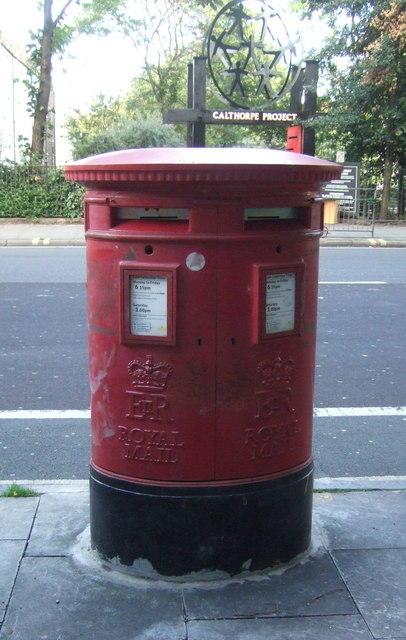 Double aperture Elizabeth II postbox on Gray's Inn Road, London WC1