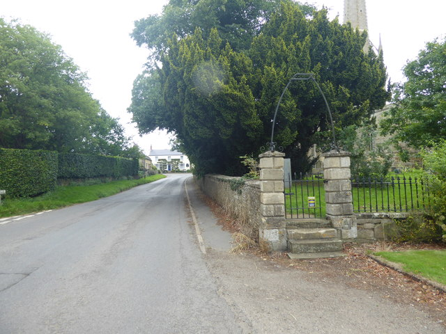 The eastern entrance to St Vincent's Churchyard, Caythorpe