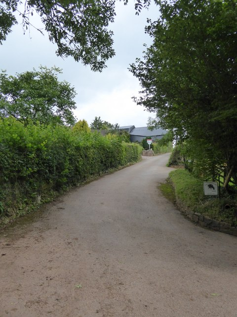 Access road to Higher Brithayes farm