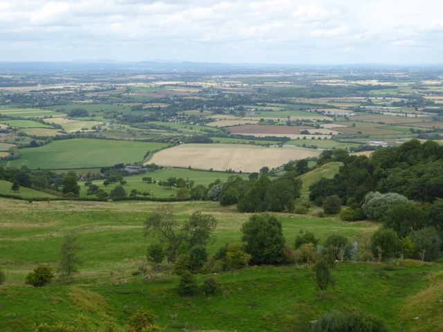 View to the north-west from Bredon Hill
