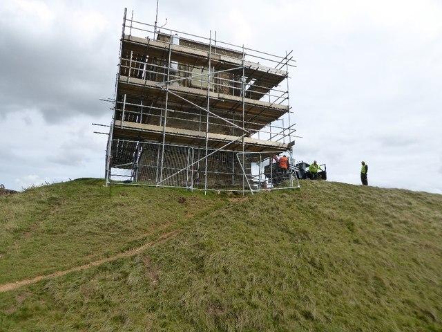 Parsons Folly under scaffolding