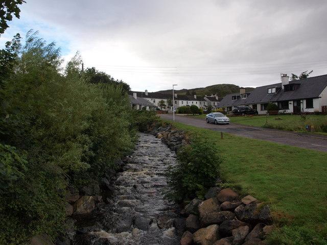 Abhain a' Mhuilinn beside Burnside Terrace
