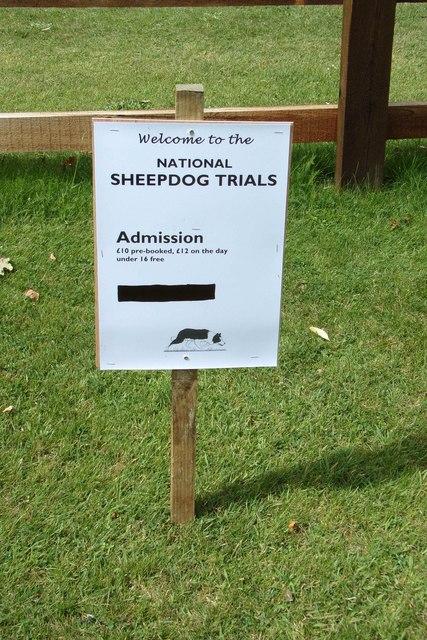 National Sheepdog Trails sign