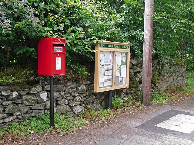 Post box and noticeboard, Newton Reigny