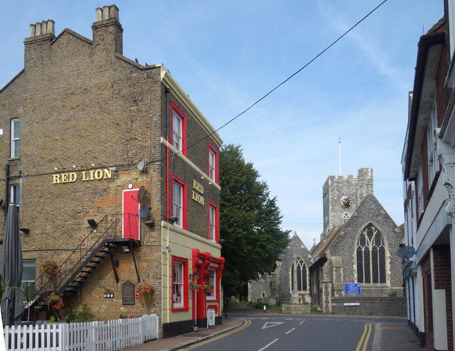 Church and Pub, St Peter's High Street