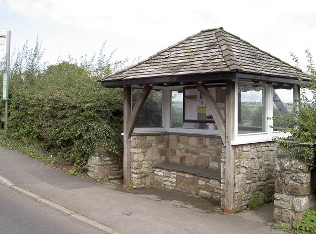 Bus stop on the A368