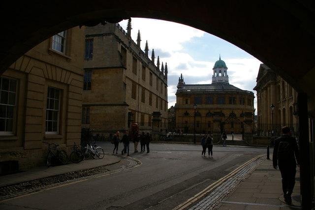 Sheldonian Theatre from New College Lane