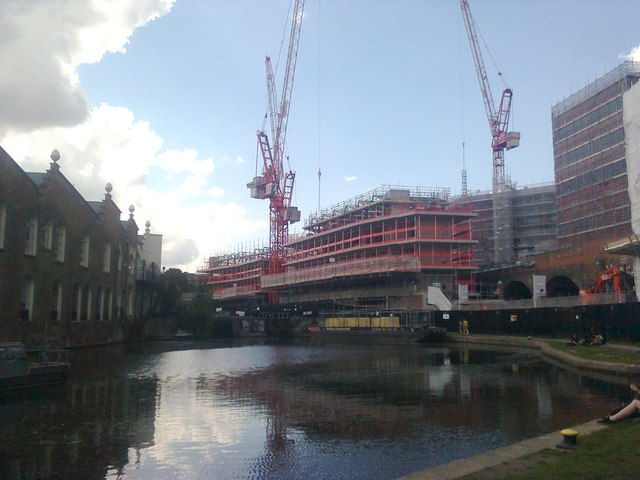 Construction beside Regent's Canal