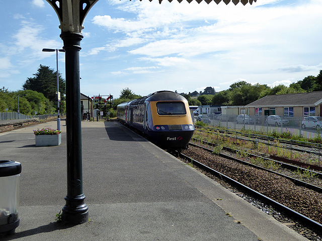 A 'Boardmasters' special train for Newquay leaving Par