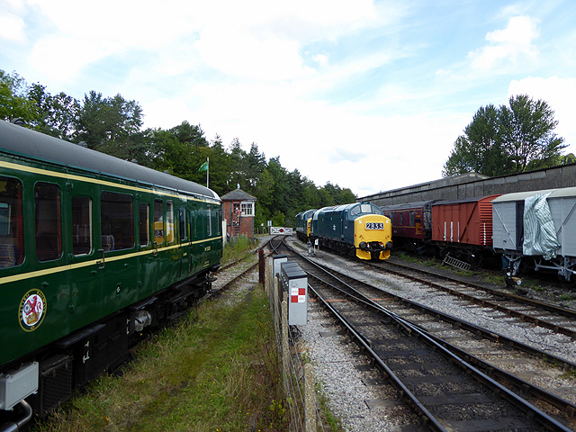 From the end of the platform at Buckfastleigh