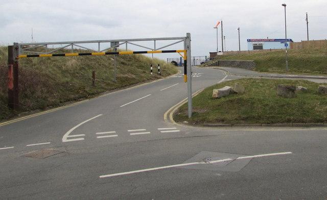 Overhead barrier on a Prestatyn corner