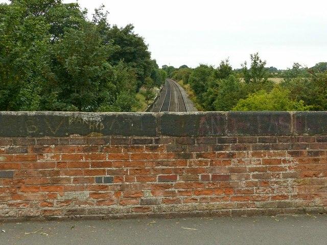 Looking west from Hopwell Road railway bridge