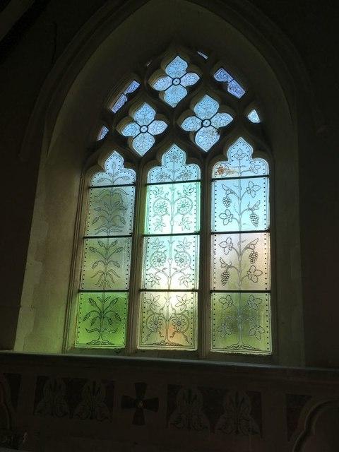 Chancel Window Engraving