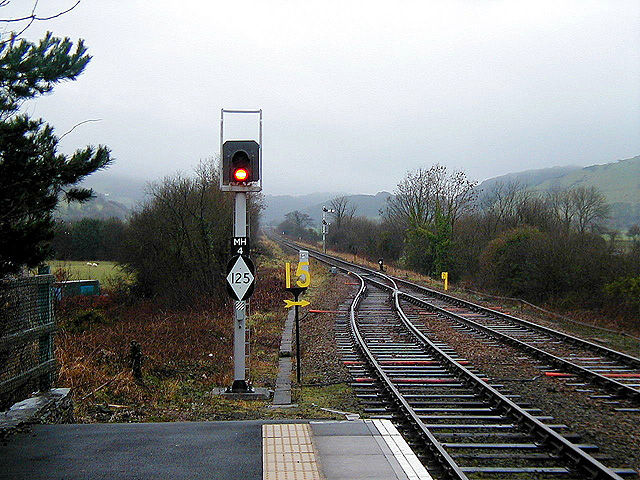 Looking west from Machynlleth Station
