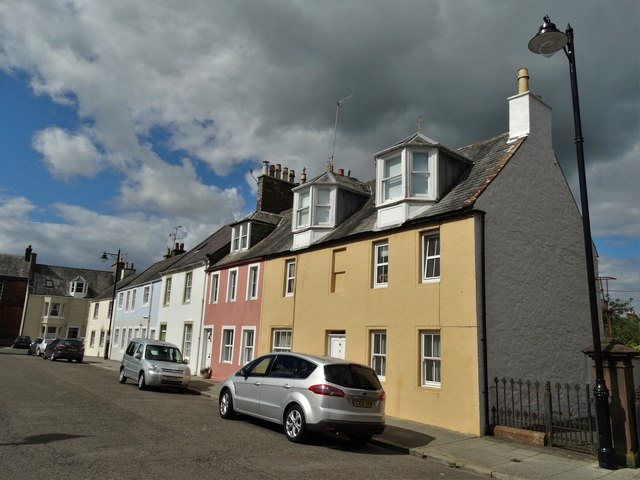 Houses on Kirkcudbright High Street