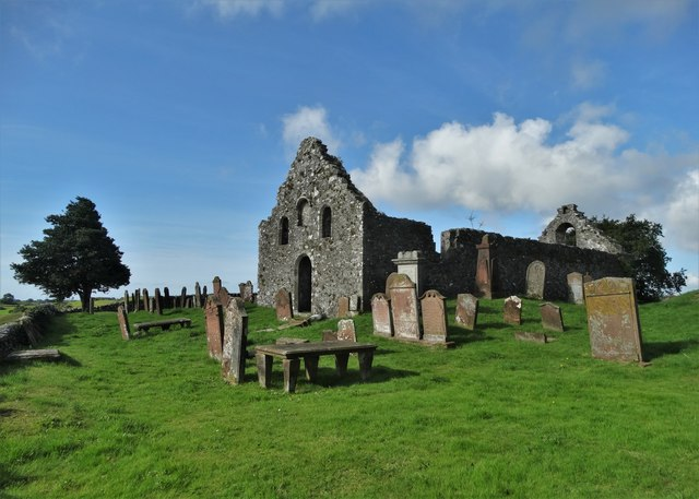 The ruins of Girthon parish church - morning view