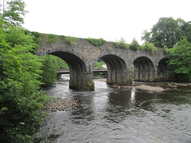 Rail and Road Bridges across the River Neath