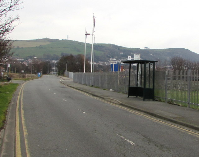 Barkby Avenue bus stop and shelter, Prestatyn