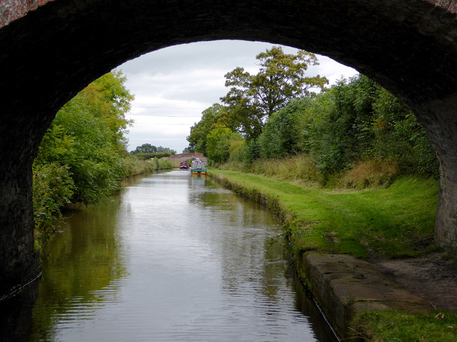 Llangollen Canal north of Burland in Cheshire