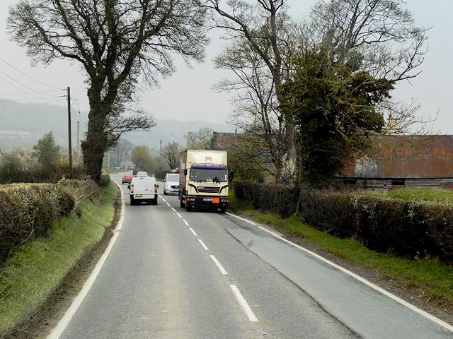 The Street (A483) at Rhandregynwen