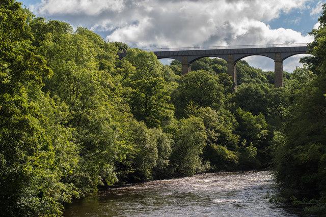 Pontcysyllte Aqueduct from Cysylltau Bridge