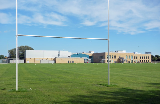 School and Goal Posts