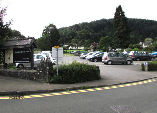 Anchor Customer Car Park entrance, Tintern