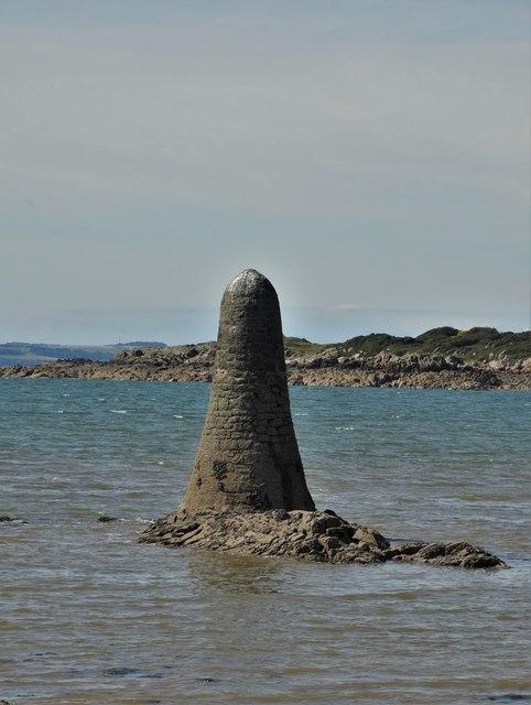 One of the navigation pillars at Knockbrex