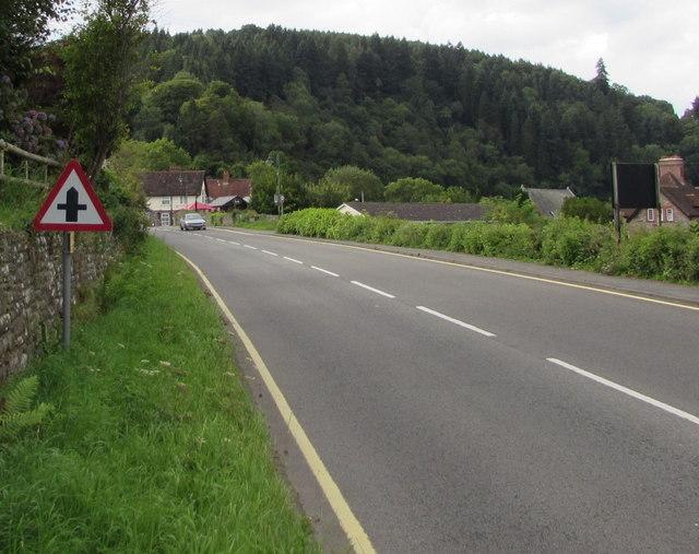 Warning sign - minor crossroads ahead, Tintern