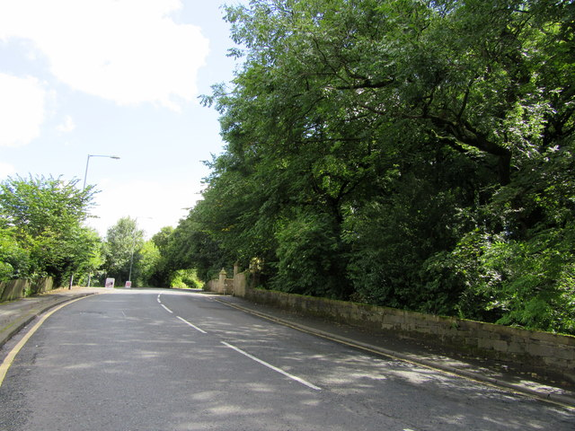 A6066 North of Stubbylee park