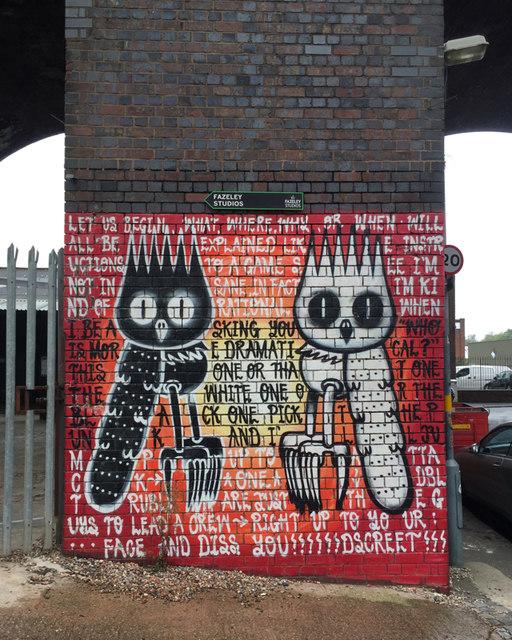 Rap-style graffito, Gibb Street, Birmingham