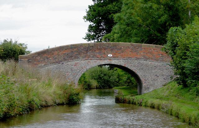 Bachehouse Bridge north of Burland in Cheshire
