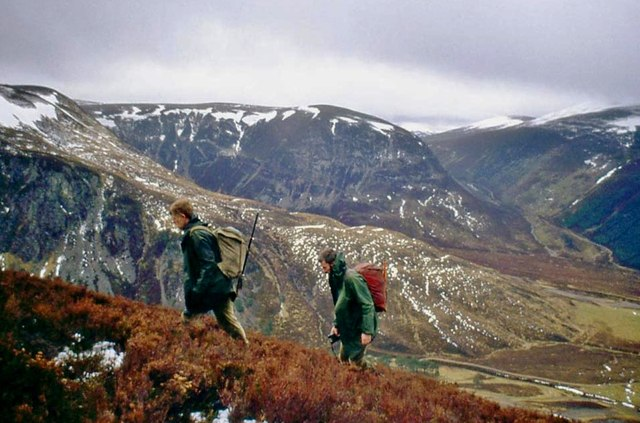 Climbing the slopes of Creag na Gaibhre