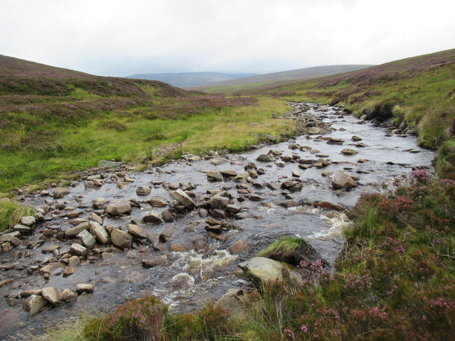 Bynack Burn on a more open course giving a sense of its huge catchment