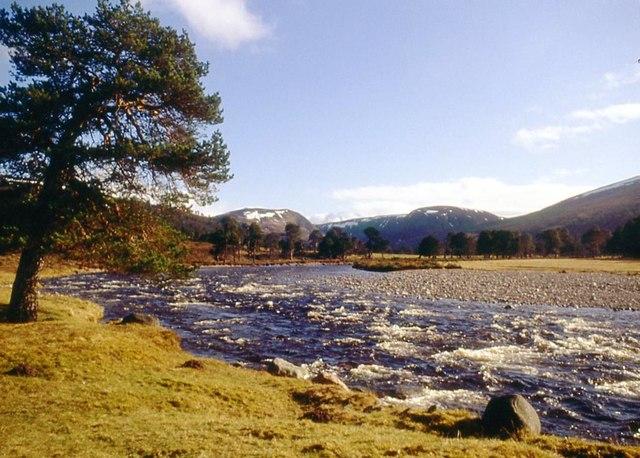 River Feshie in spring spate