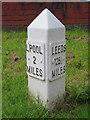 SJ3394 : 2 Mile milepost alongside the Leeds-Liverpool Canal by John S Turner