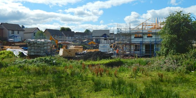 Construction on the former site of Napierston Farm
