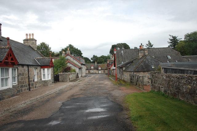 Monymusk street-scene