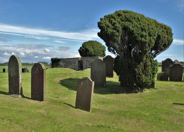Kirkandrews - the old churchyard