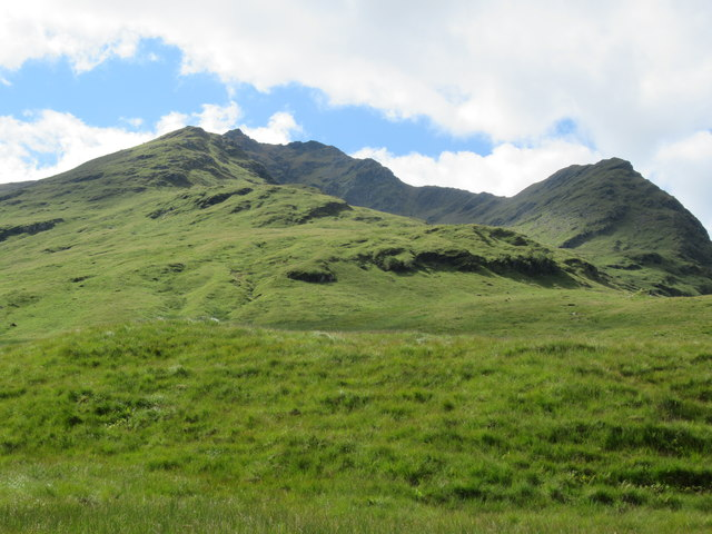 View west from near waterfall on Allt Coire Laoigh by Tyndrum