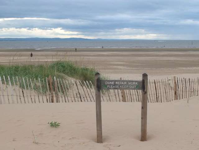 Dune repair area at Crosby